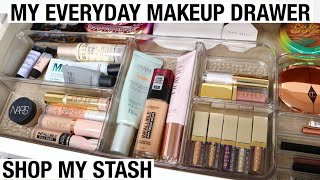 ORGANIZING MY EVERYDAY MAKEUP DRAWER 2020! MAKEUP I'M USING THIS SPRING | SHOP MY STASH