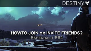 Destiny: How to Join or Invite Friends Online (HD)