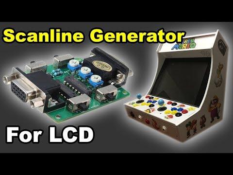 Scanline Generator for LCD arcade monitors