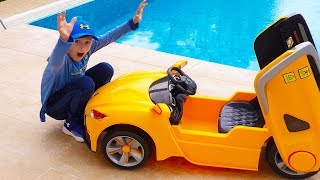 ALİNİN ARABASI CANLANDI KAÇTI Kid Ride on Toy Car Escaped Power wheels
