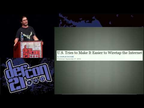 DEF CON 21 - Christopher Soghoian - Backdoors, Government Hacking and The Next Crypto Wars