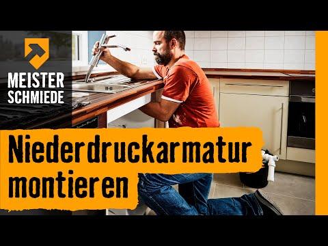 Niederdruckarmatur montieren  | HORNBACH Meisterschmiede