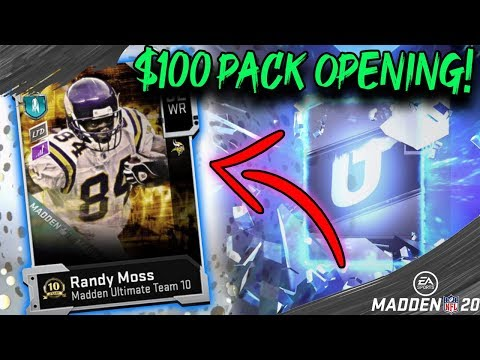 $100 PACK OPENING FOR LIMITED EDITION RANDY MOSS! MADDEN 20 ULTIMATE TEAM