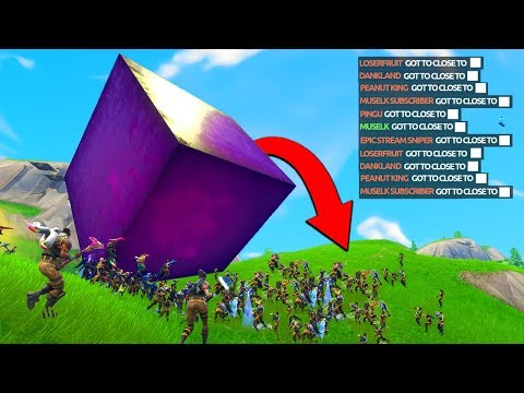 ENTIRE SERVER CRUSHED by the CUBE - Fortnite