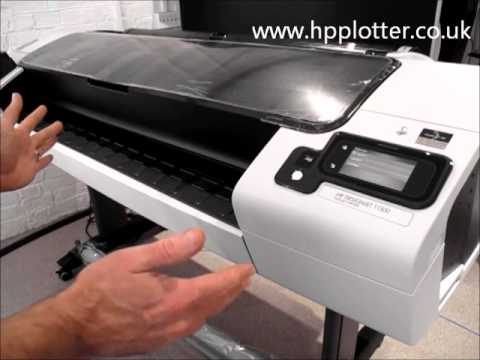 HP Designjet T1300 printer - how to load rolls of media