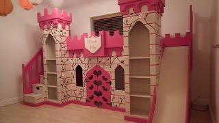 Wonderful Castle Bed With Slide For Kids Bedroom