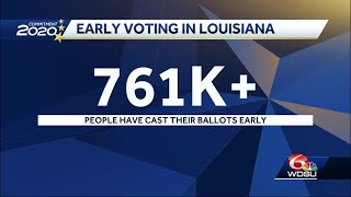 More than 761,000 vote early in Louisiana