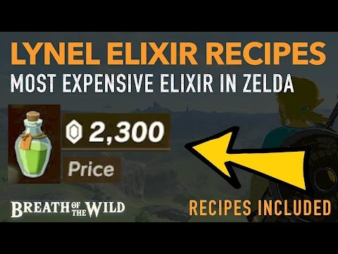 Video How to Cook EXPENSIVE Lynel Elixir Recipes - (HIGHLY PROFITABLE) - Zelda: Breath of the Wild