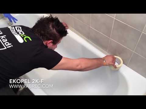 Badewannenrenovierung und Badewannenbeschichtung.