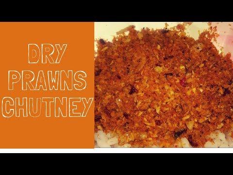 Unakka Chemmeen Chammanthi | Dried Prawns Chutney | Konju Chammanthi