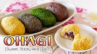 Ohagi / Botamochi (Japanese Sweet Sticky Rice Balls) おはぎ/ぼたもちの作り方 – OCHIKERON – CREATE EAT HAPPY