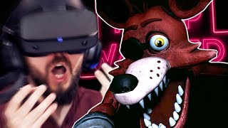 Getting VERY Scared In Five Nights At Freddy's VR (FNAF VR)   Part 1