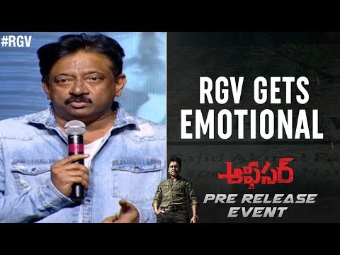 RGV Gets Emotional | Officer Pre Release Event | Nagarjuna | Myra Sareen | Ram Gopal Varma