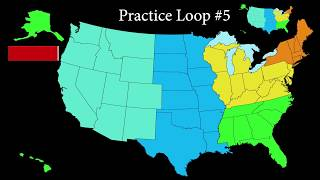 Learn the 50 States in about 20 minutes practice loops, anyone can do it.