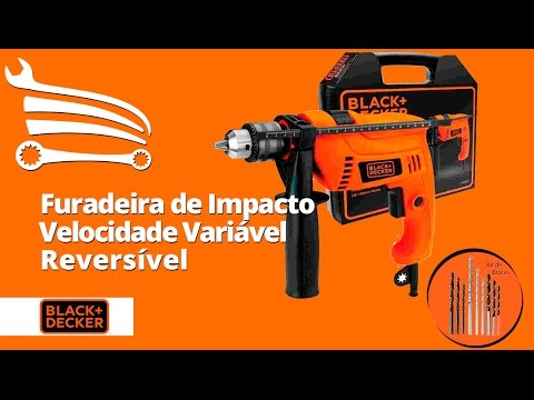 Furadeira de Impacto 1/2 Pol. 550W  com Maleta e Kit de Brocas - Video