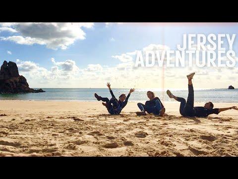 JERSEY ADVENTURE ft. A Wild Swimming GIRAFFE