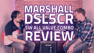 Marshall DSL5CR 5W All Valve Combo Demo & Tone Test