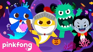 Go Away Monster! 🍬  Baby Shark Learns Trick or Treat   Halloween Songs   Pinkfong Songs for Children