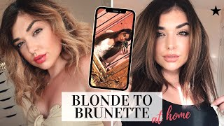 DIY: FROM BLONDE TO BRUNETTE HAIR AT HOME - HOW TO FILL HAIR! | Chloe Zadori