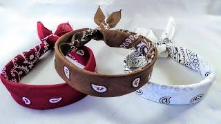 How To Fold A Bandana , How To Tie A Bandana, Bandana Headband, Hair Bow, DIY , Folding A Bandana