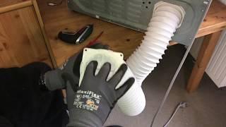 Wäschetrockner Schlauch ersetzen Abluftschlauch am Trockner wechseln Heimwerker Anleitung