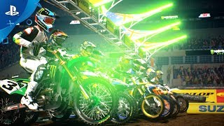 Monster Energy Supercross - The Official Videogame 2 - Announcement Trailer | PS4