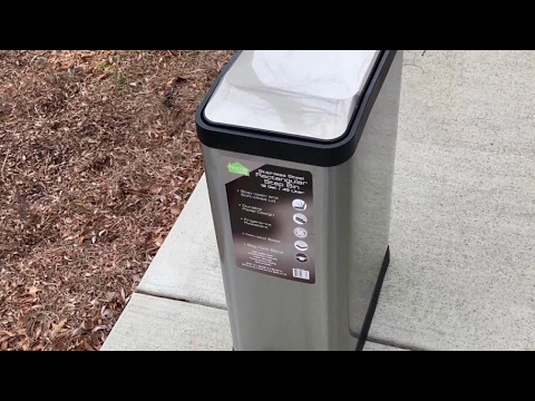 45-Liter Stainless Steel Rectangular Kitchen Step Trash Garbage Can by HomeZone review