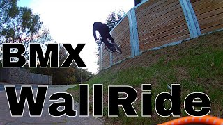 Learning To Wall Ride A BMX | New Trick.