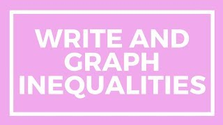 Chapter 8, Lesson 6 - Write and Graph Inequalities