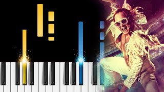 "Elton John, Taron Egerton   (I'm Gonna) Love Me Again   Piano Tutorial & Sheets   From ""Rocketman"""