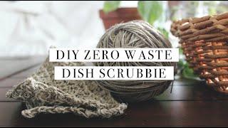 DIY Zero Waste Dish Scrubber   Crochet For Beginners   Handmade Home