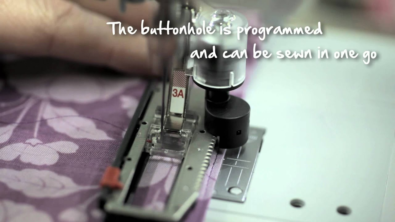 4/10 BERNINA 580: how to sew a buttonhole
