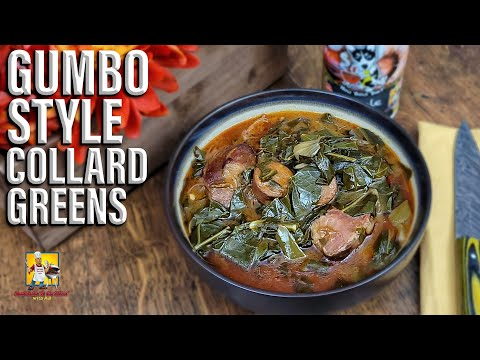 AB Making Some Gumbo Style Collard Greens