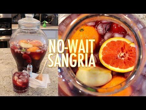 """Delicious """"No-Wait"""" Sangria Recipe!"""