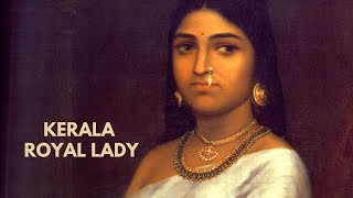 Kerala Royal Lady by Raja Ravi Varma