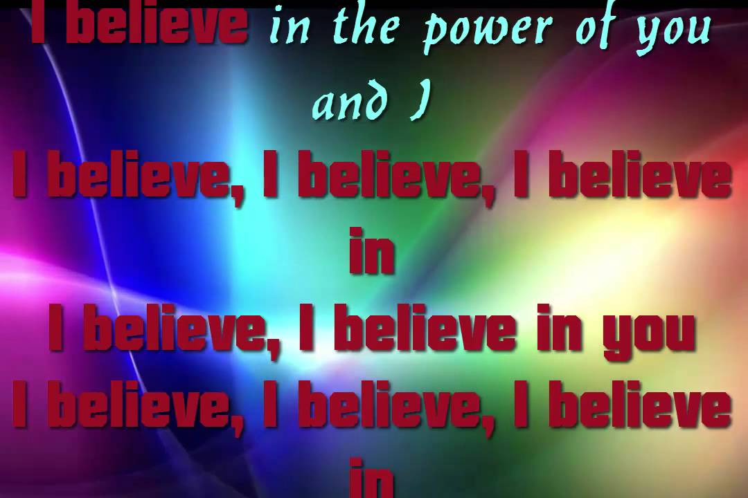 Nikki Yanofsky - I Believe Lyrics . .