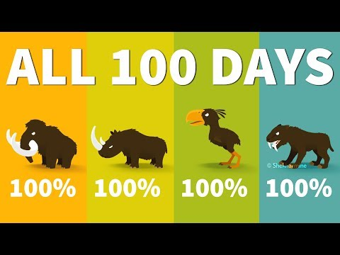 Big Hunter All 100 Days | MAMMOTH, RHINO, TERROR BIRD, SMILODON