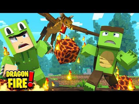 The EVIL WILD DRAGONS ATTACK! - Minecraft DragonFire
