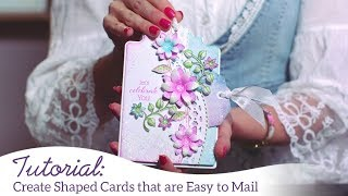 Create Shaped Cards that are EZ to Mail
