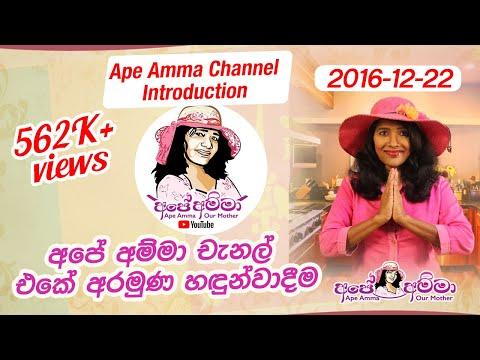 'Ape Amma' Channel Introduction අපේ අම්මා චැනල් එකේ අරමුණ
