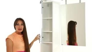 Зеркало-шкаф Triton Эконом 50x79, вишневый