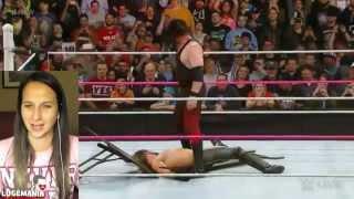 WWE Raw Kane Choke Slams Seth Rollins