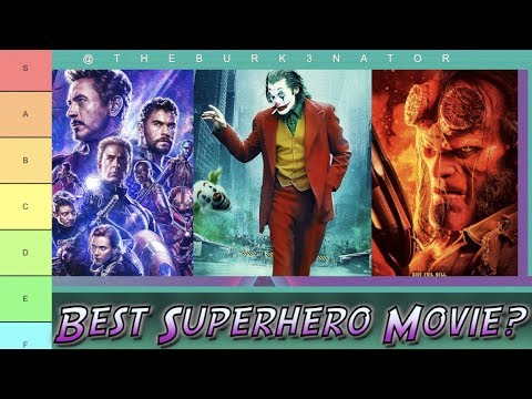 2019 Superhero Movie Tier List