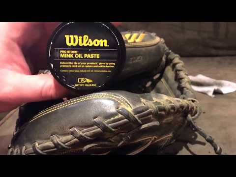 How to condition and maintain a baseball glove