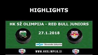 Člani AHL, 27.1.2018 HK SŽ Olimpija – Red Bull Juniors 2:0, video povzetek tekme