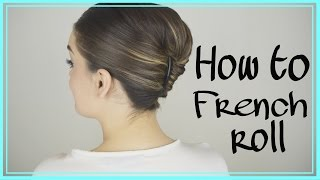 How To Do An Easy French Twist In Your Own Hair! EASY TRICK!
