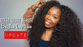 2 Month Update | Queen Weave Beauty LTD | Brazilian Deep Wave | Aliexpress