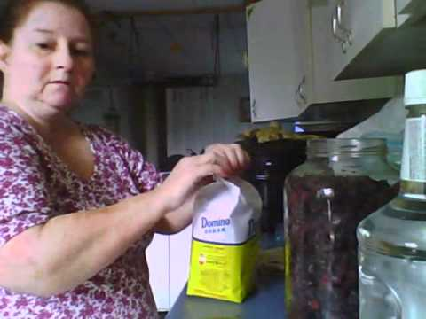 Making Blackberry Brandy