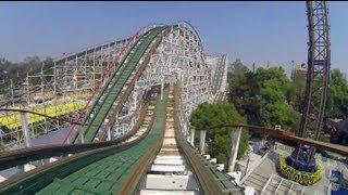 Montaña Rusa Wooden Roller Coaster POV Both Sides La Feria Mexico City