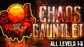 [CHAOS GAUNTLET] ALL LEVELS 100% [LEVEL 1-5] - GEOMETRY DASH 2.1 [THE LOST GAUNTLETS]